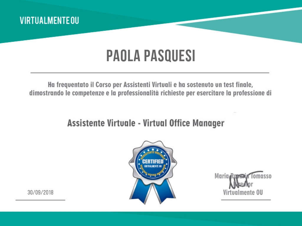 certificazione VA